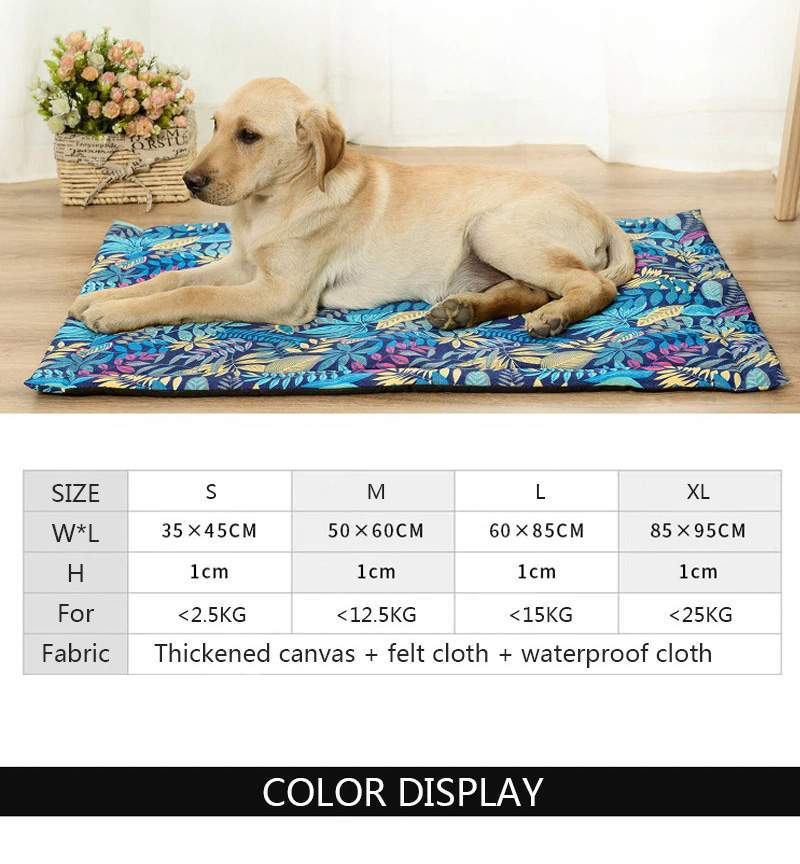 Pet Mat Cat Dog Bed Thickened Soft Fleece Pad Cushion Home Portable Washable Rug for Small Medium Large Labrador French Bulldog