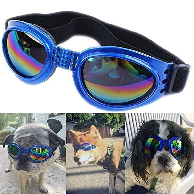 Dog Goggles Eye Wear Protection Waterproof 6 Colors Pet Sunglasses for Dog Cat