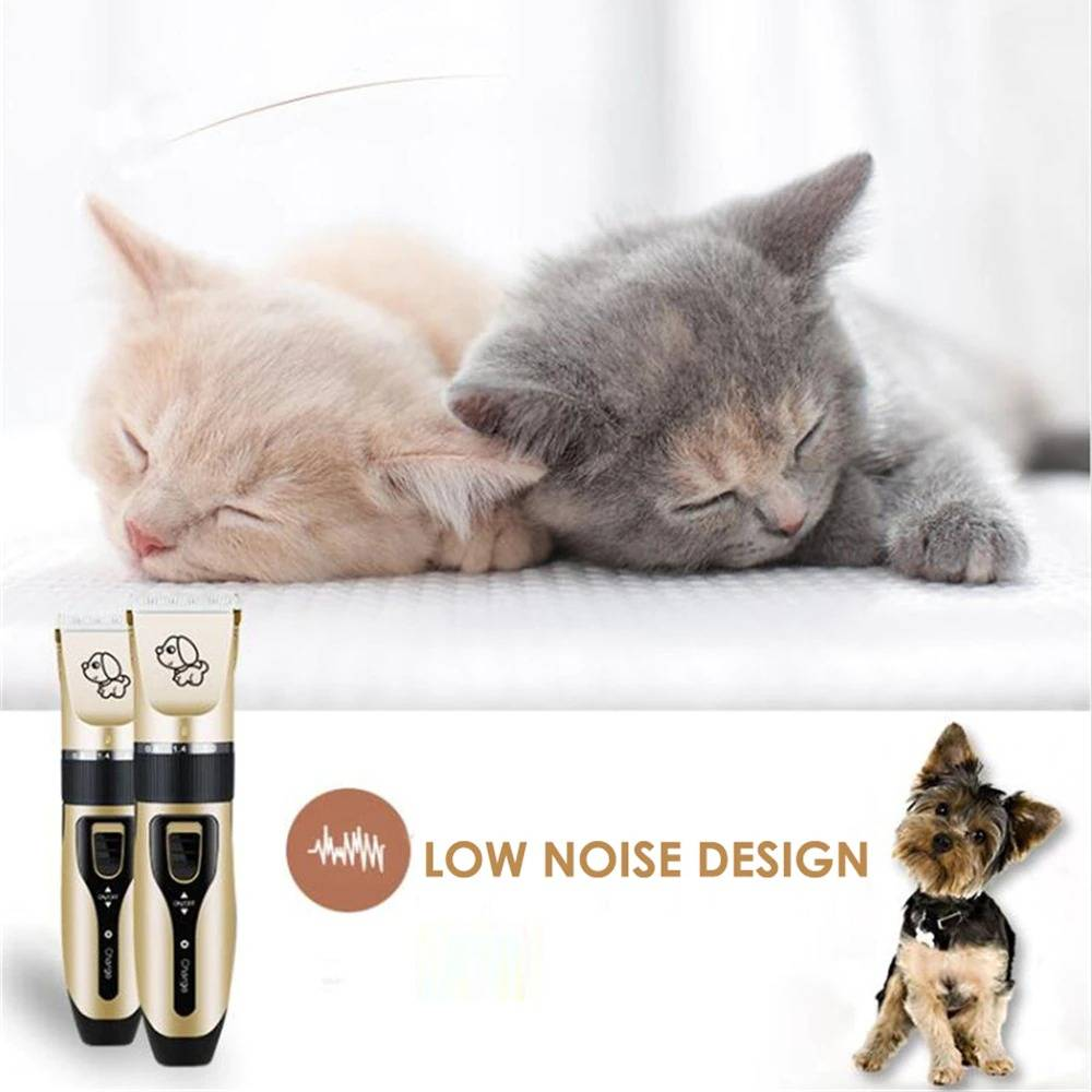 Pet Electrical Clipper Professional Grooming Kit Rechargeable Pet Cat Dog Hair Trimmer Shaver Set Animals Hair Cutting Machine