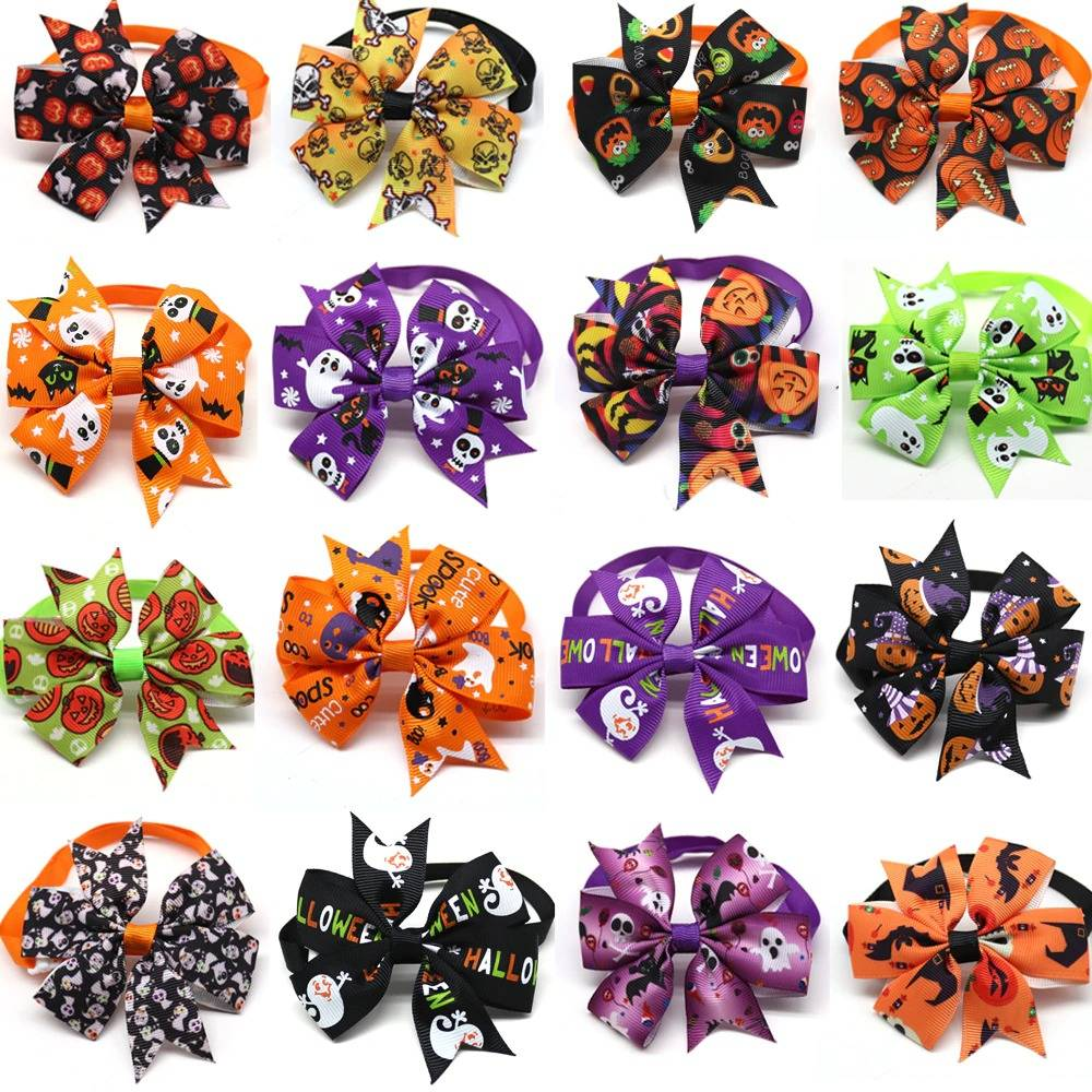 Halloween Pet Cute Bow Tie for Dog Cat Pet Holiday Supplies