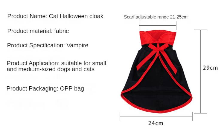 Halloween Pet Costumes for Cat Dog Cute Cosplay Vampire Cloak Cape Cap Witch Cosplay Horns Role Play Clothes for Party