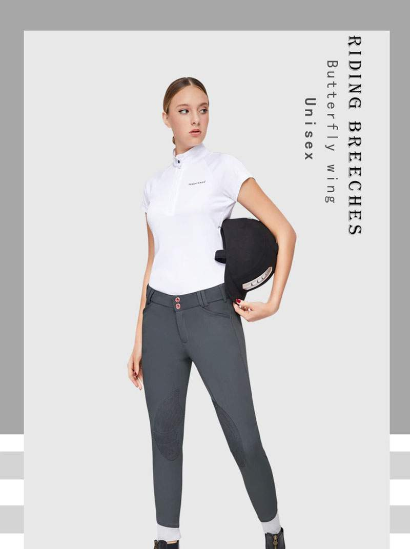 Riding Breeches, Horse Riding Pants for Men and Women, Butterfly Wing Design, High Elasticity, Breathable Fabric