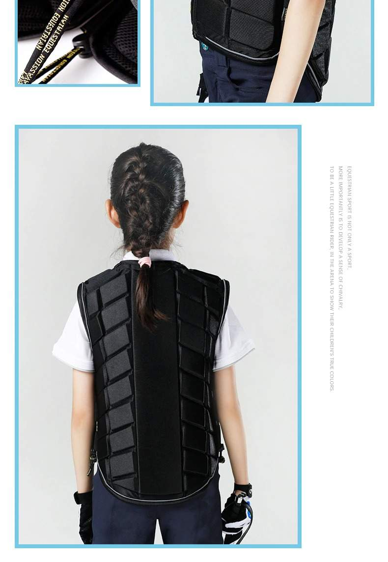 Equestrian Vest Kids Thick Protective Vest Professional Outdoor Safety Horse Riding Vest