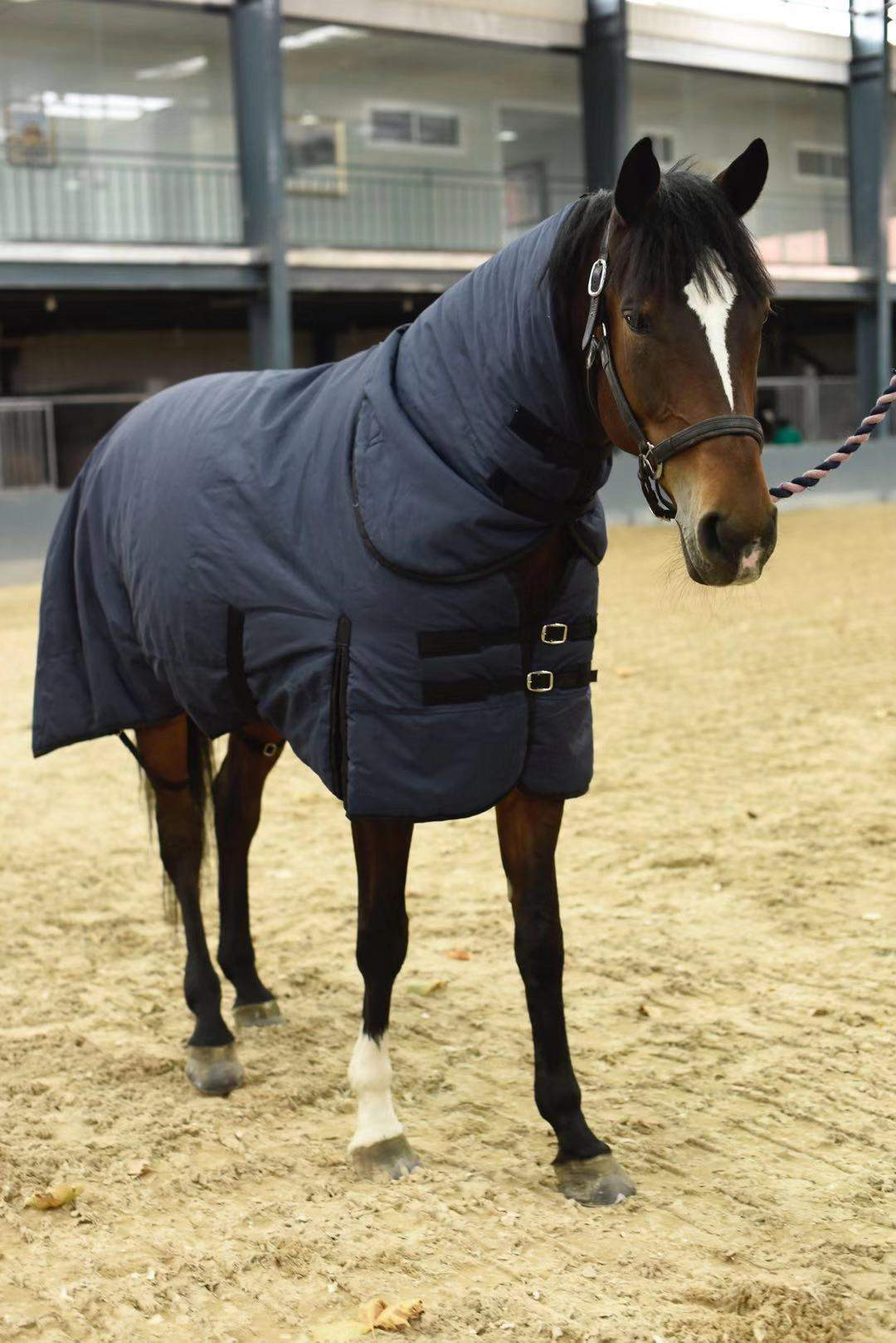 Horse Blanket Horse Sheets Winter Cotton Horse Cloth Scarf Equestrian Waterproof and Breathable Standard Neck Sheets