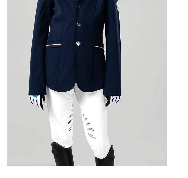 Kids Equestrian Jacket for Boys and Grils, Children's Sweet Heart Equestrian Show Suit Blazer Coat Tops