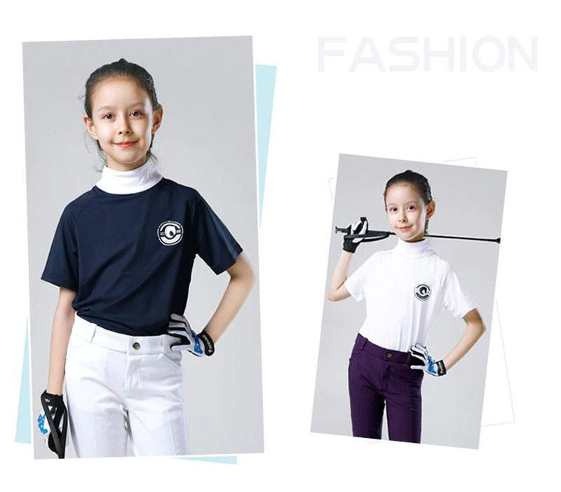 Kids Equestrian T-shirt Profession Horse Riding Competition T-shirt Knight Horse Equipment Rider Clothing
