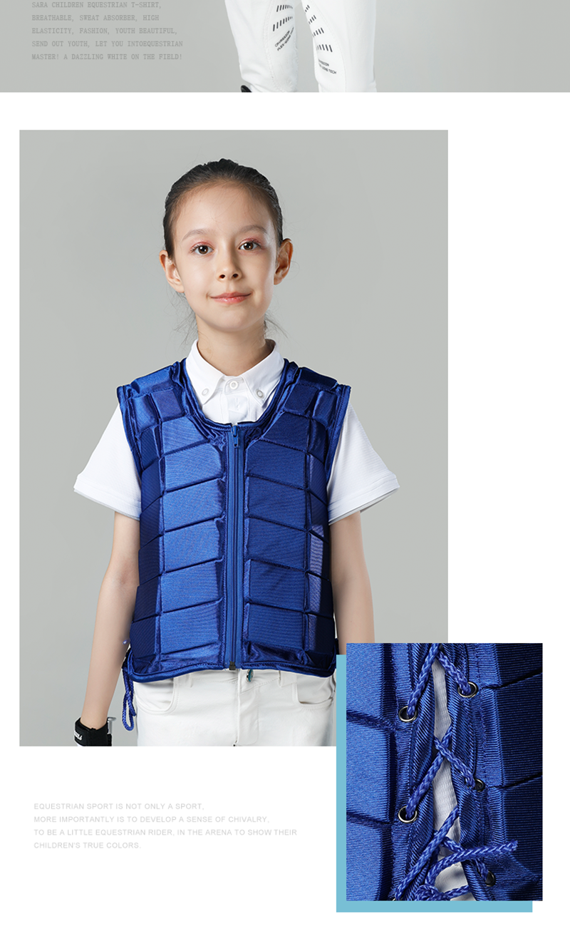 Kids Equestrian Vest Outdoor Safety Protective Horse Riding Vest Boy And Girl Children's Equestrian Protective Equipment
