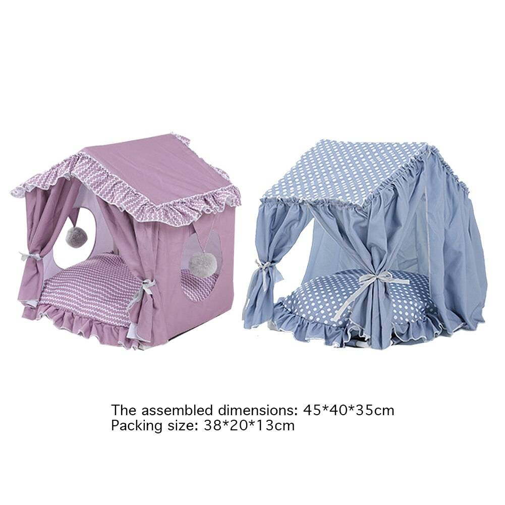 Princess Prince Dog Cat Bed Dog Portable Folding House Pet Rectangle Cage Cat Carrier Tent Playpen Puppy Bed