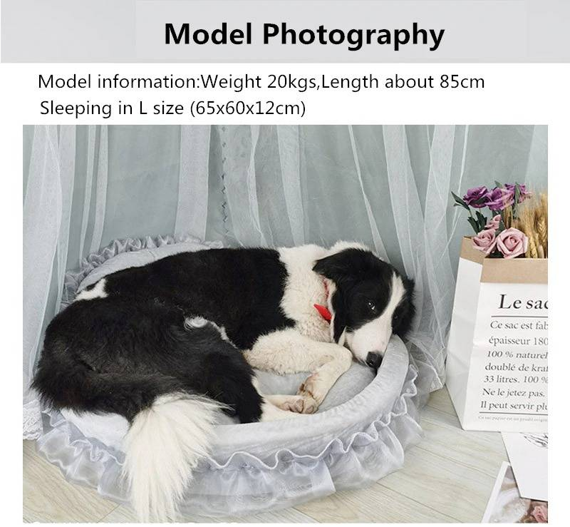 Luxury Dog Bed House Kennel Princess Lace Pet Bed Cat Bed