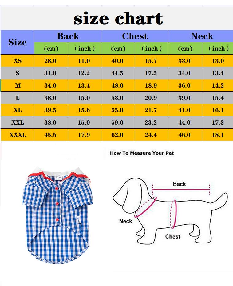 Dog Clothing French Bulldog Clothes Puppy Animal Blouses York Chest Plaid Pute For Pet Shirt Outfit Cats Small Summer Chihuahua