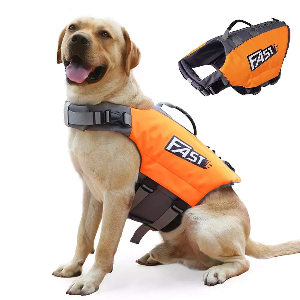 Dog Life Jacket Pet Life Vest Dogs Cat Water Floating Swimming For Pets Bathing Suit