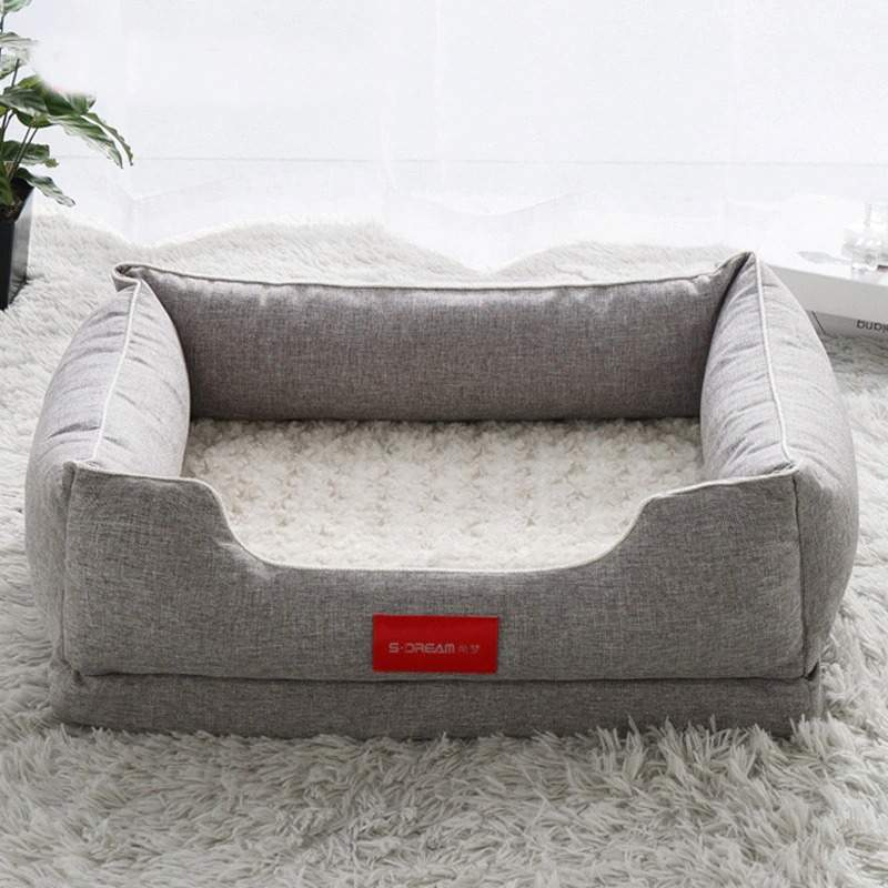 Luxury Canvas Dog Bed Sofa House For Big Dog Puppy Pet Cat