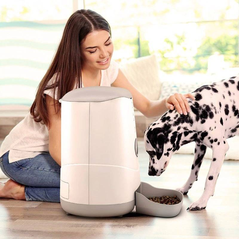 Pet Smart Automatic Feeder for Dog Cat, With WiFi Remote Control Video Monitors Rechargeable Timed Dispenser Feeder