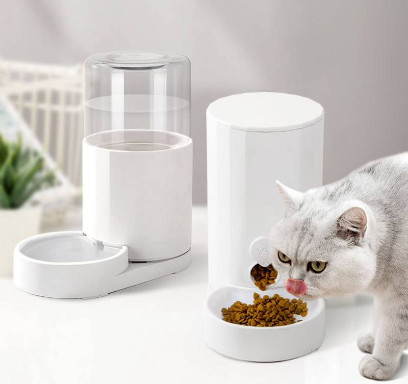 Pet Automatic Feeder 2.5L for Dog Cat Auto Water & Food Bowl Dispenser Bottle