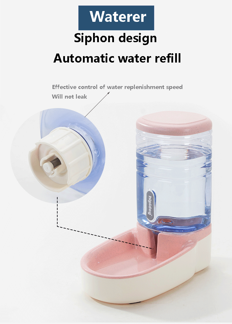 Pet Automatic Waterer Feeder Food Dispenser for Dog Cat 3.8L Large Capacity Portable Pet Water Drinking Dispenser Feeder