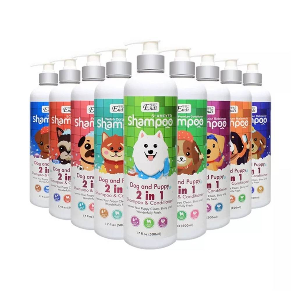 Pet Dog Shampoo and Conditioner 2 in 1 Kills Mites, Deodorizes And Leaves Fragrance 500ml