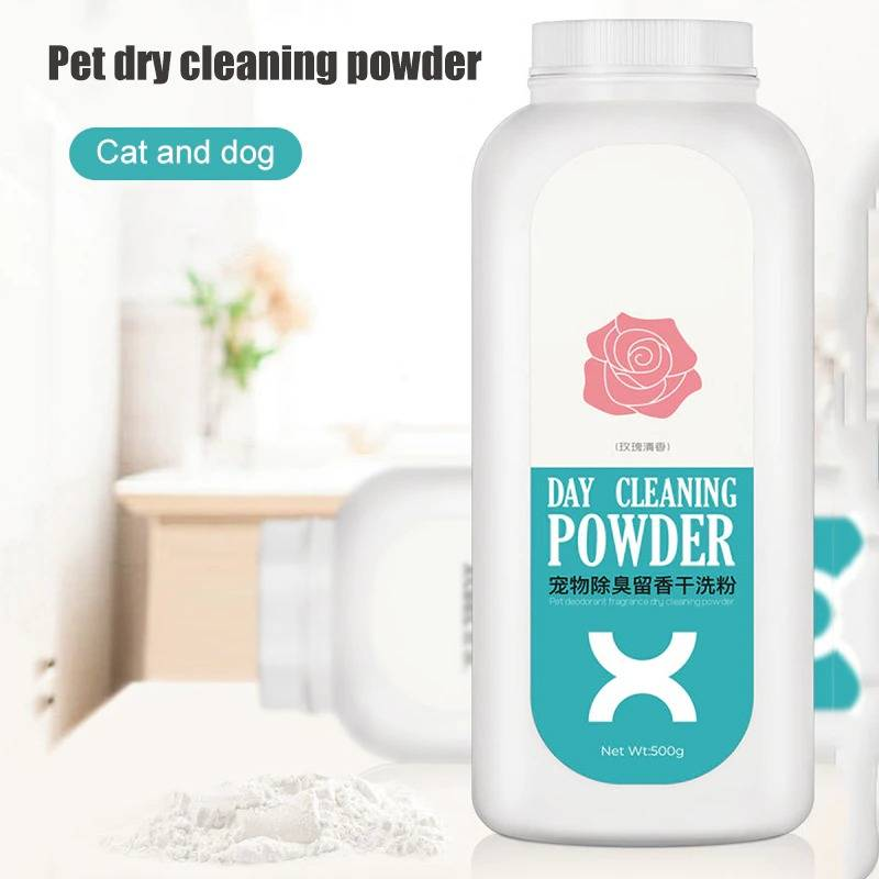 Pet Shampoo for Dog Puppy Cat Natural Plant Starch Dry Cleaning Shampoo Powder Pet Dry Cleaning Powder