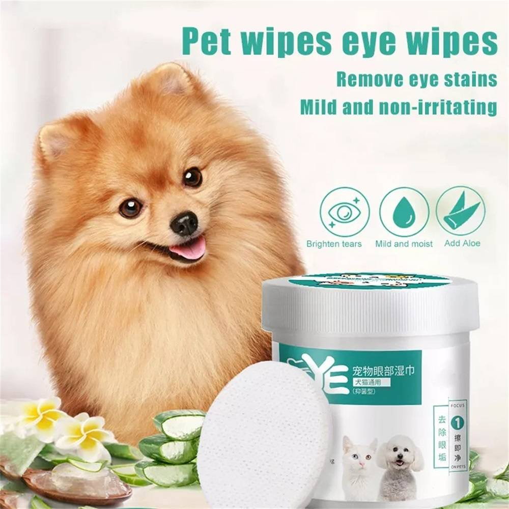 Pet Wet Wipes for Dog Cat Eye/Ear Stain Cleaning 1Box 130pcs