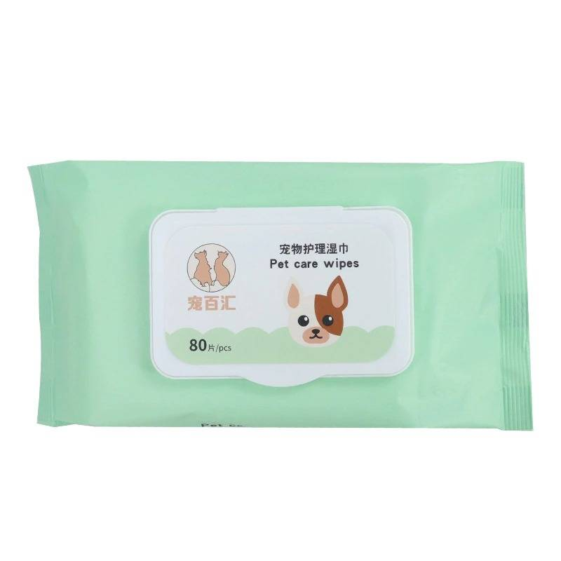 80 Pieces Pet Eye Wet Wipes Dog Cat Pet Cleaning Wipes Grooming Tear Stain Remover Pet Puppy Kitten Supplies Pet Cleaning Wipes