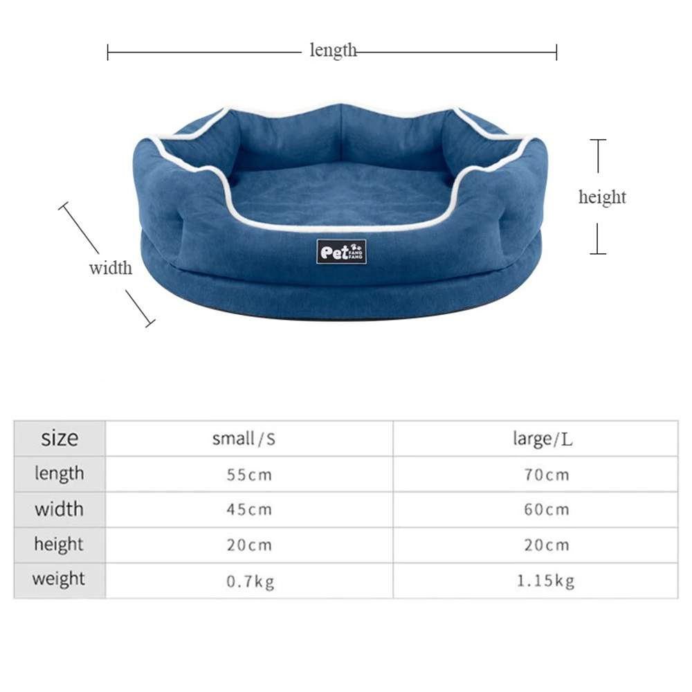 Pet Dog Bed For Small Large Dogs, Memory Foam Dog House Soft Detachable Pet Bed Sofa Breathable Puppy Kennel