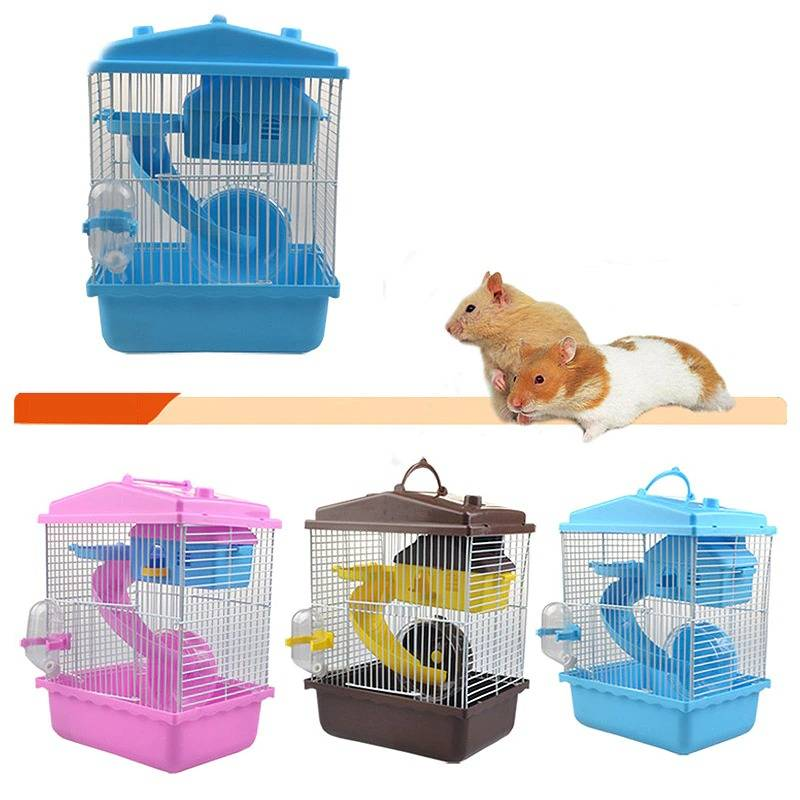 Pet Hamster Cage Hamster House Double Layer House for Hamster
